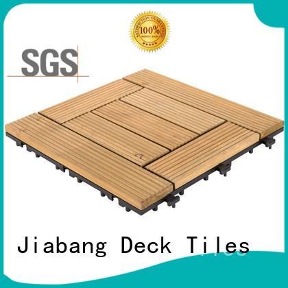 JIABANG interlocking interlocking wood deck tiles flooring for garden
