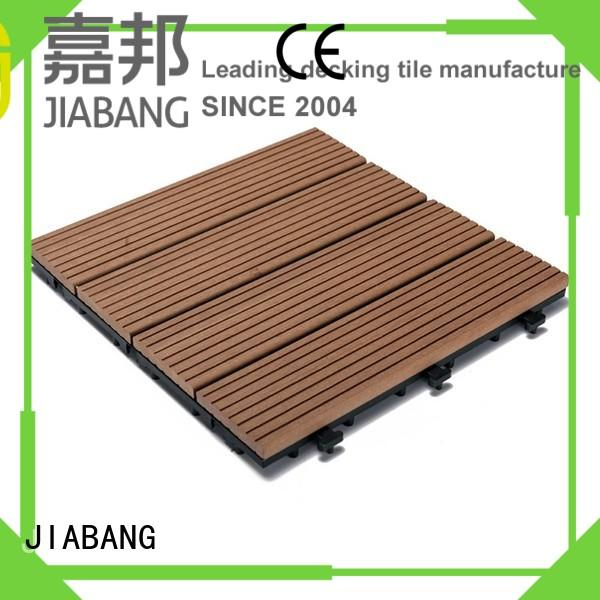 JIABANG frost resistant composite wood deck tiles easy installation