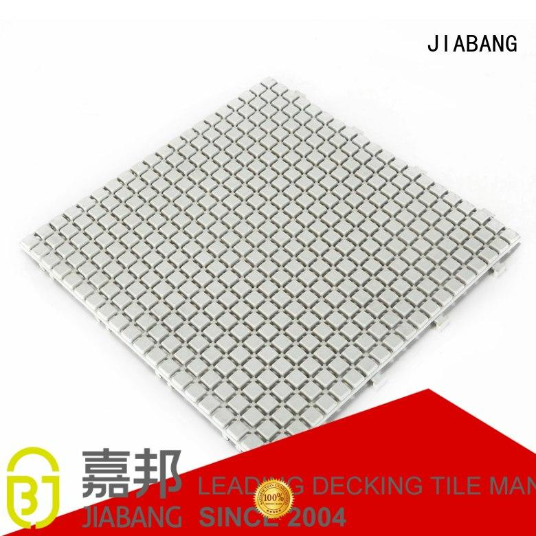 plastic floor tiles outdoor yellow JIABANG Brand non slip bathroom tiles