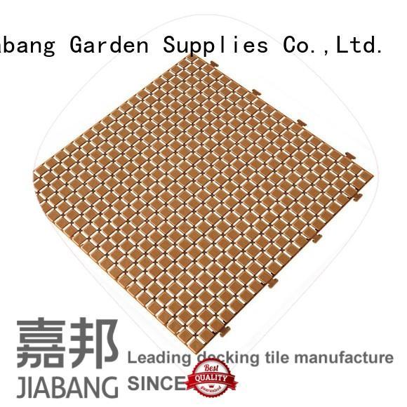 bathroom floor plastic patio tiles top-selling for customization JIABANG