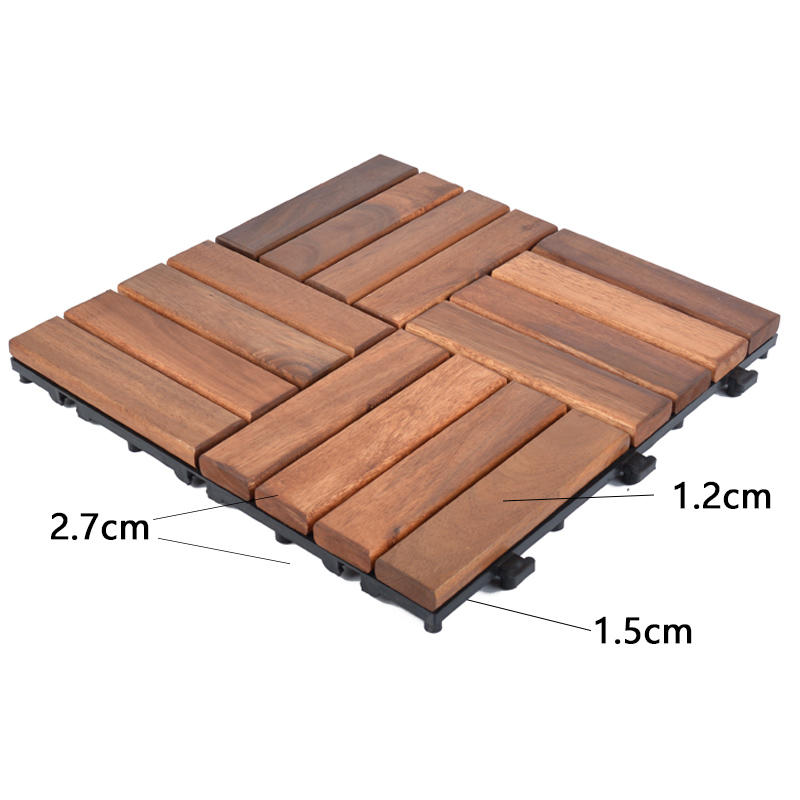 stable acacia wood tile solid wood cheapest factory price easy installation-3