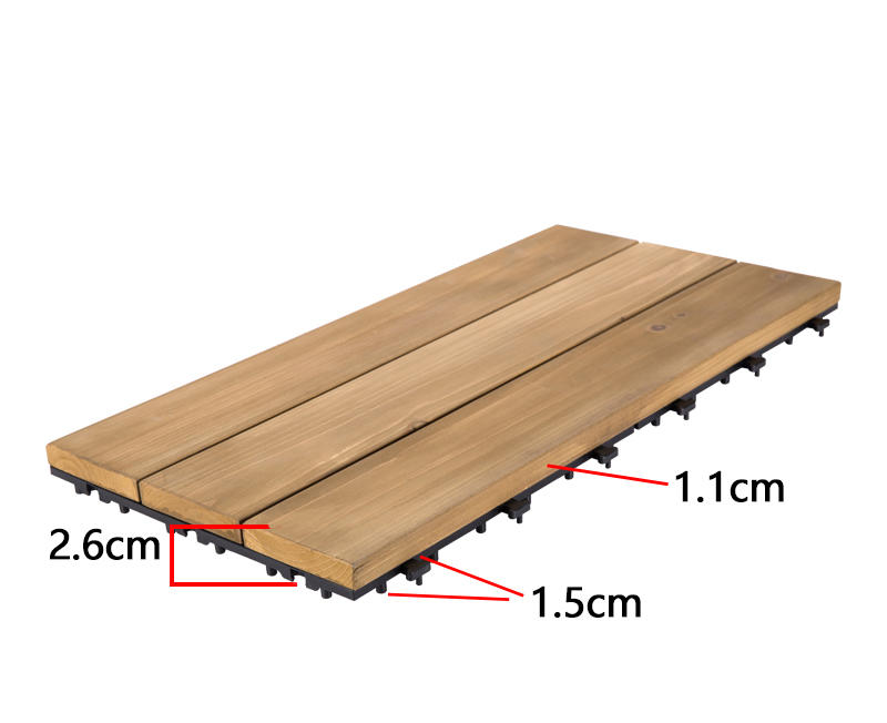 JIABANG natural hardwood deck tiles flooring for garden-3