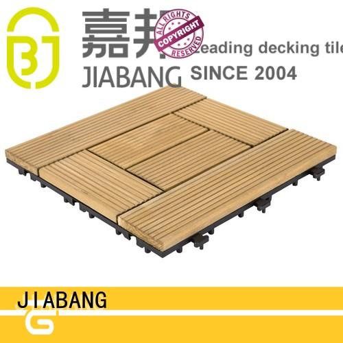 JIABANG natural hardwood deck tiles flooring wooden floor