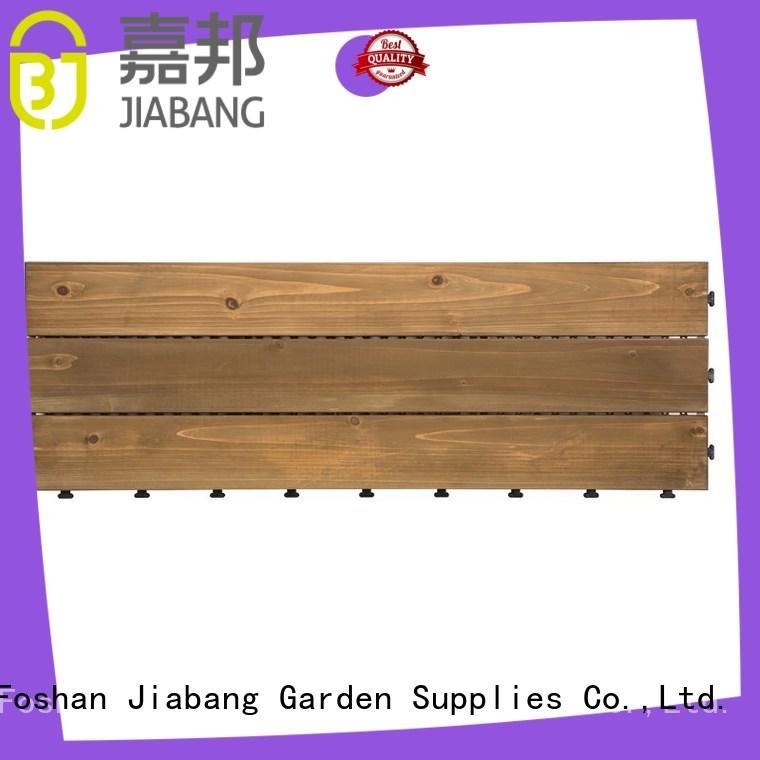 JIABANG interlocking wooden decking squares flooringwood for garden