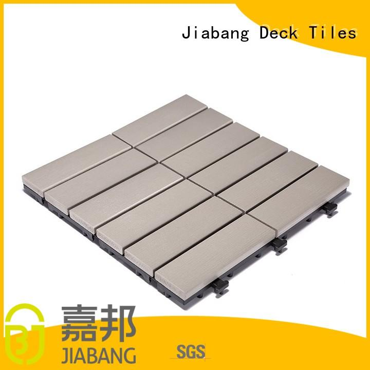JIABANG high-end plastic decking tiles home decoration