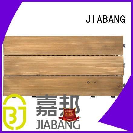 JIABANG interlocking hardwood deck tiles chic design for garden