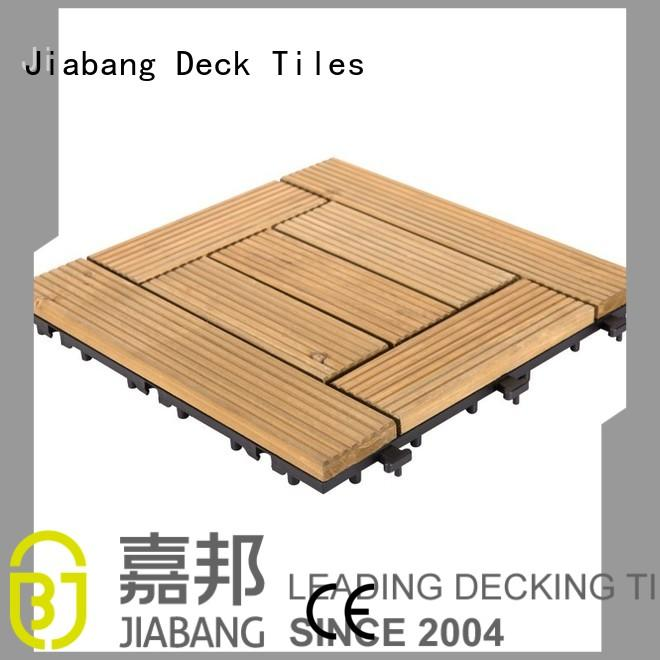 outdoor floors interlocking wood deck tiles garden tiles interlocking JIABANG company