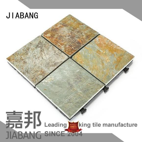Hot garden interlocking stone deck tiles surround slip JIABANG Brand