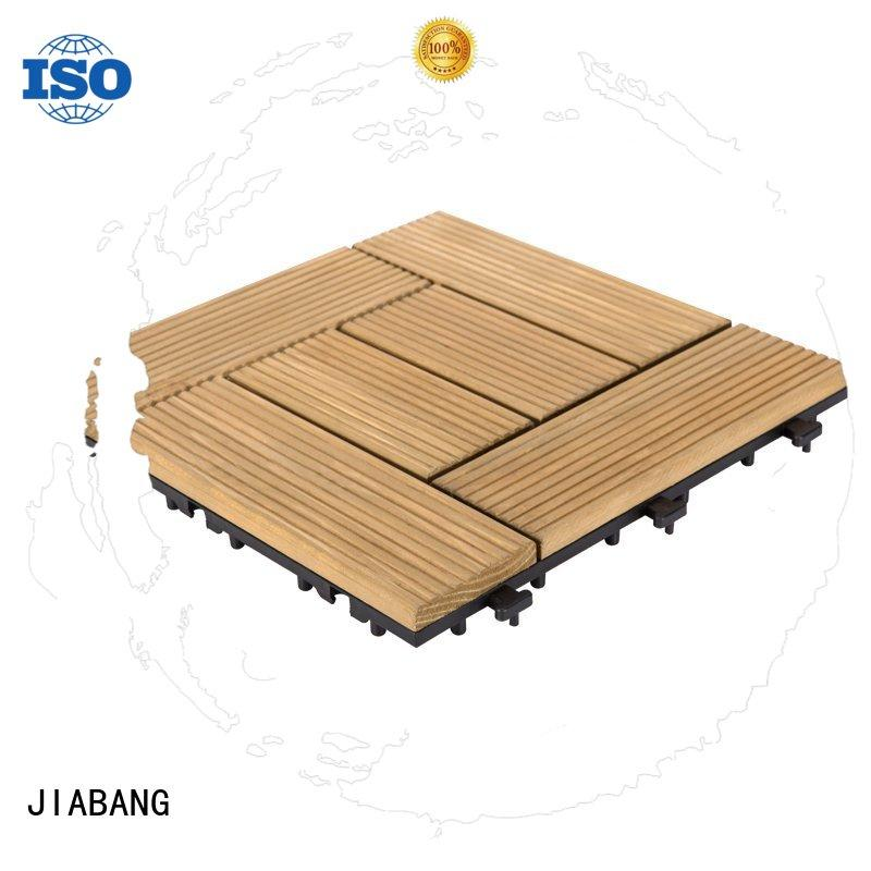 JIABANG natural wooden decking squares chic design wooden floor