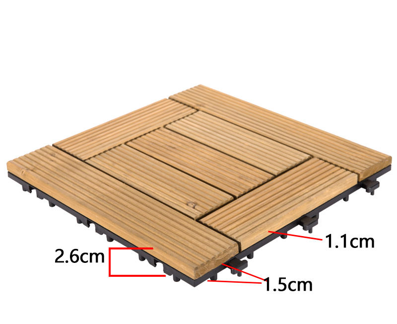 DIY wood floors interlocking tiles for balcony S7P3030BL-3
