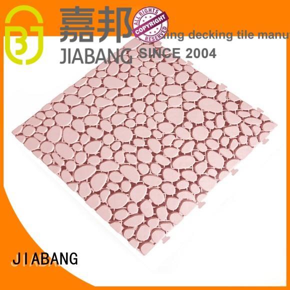 plastic floor tiles outdoor kitchen JIABANG Brand non slip bathroom tiles