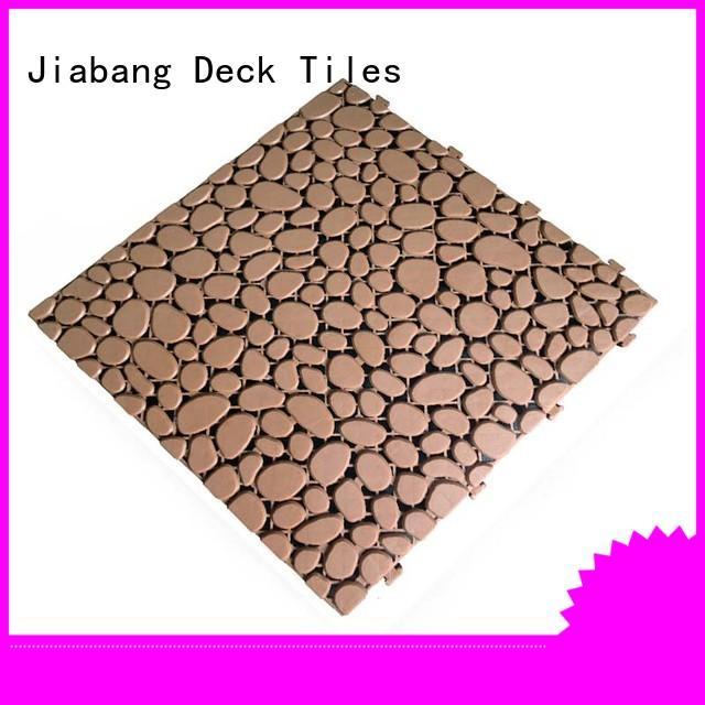 JIABANG hot-sale wood plastic composite tiles non-slip