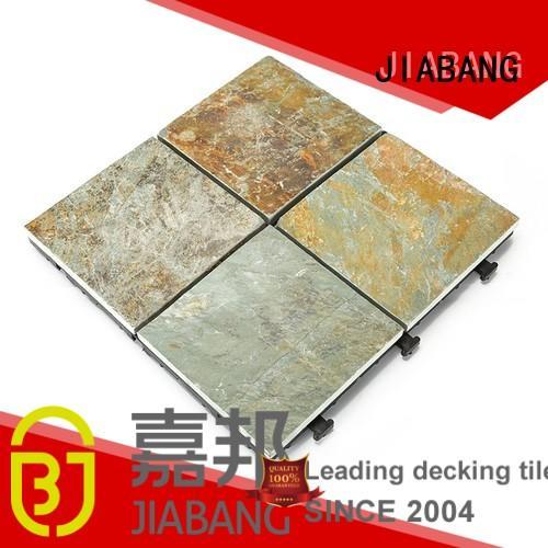 natural floors tile slate non JIABANG Brand interlocking stone deck tiles supplier