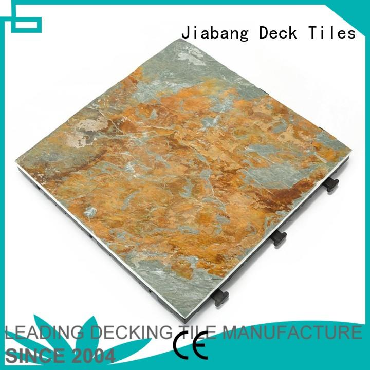 JIABANG Brand interlocking interlocking stone deck tiles pool factory