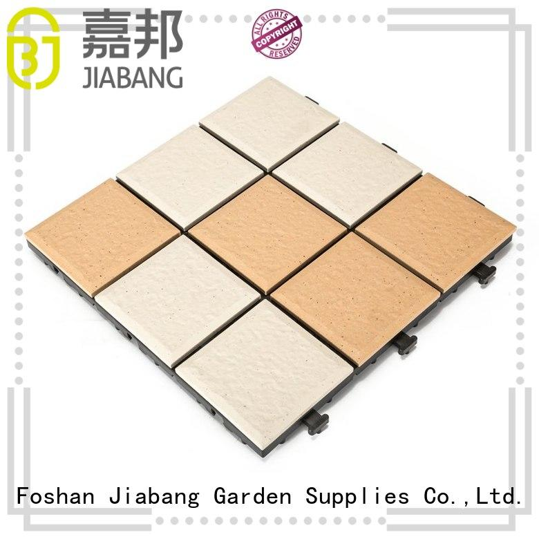 JIABANG interlocking ceramic deck tiles cheapest factory price for garden
