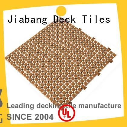 JIABANG hot-sale interlocking plastic patio tiles non-slip for wholesale