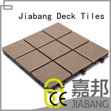 interlocking porch outside deck ceramic garden tiles JIABANG Brand