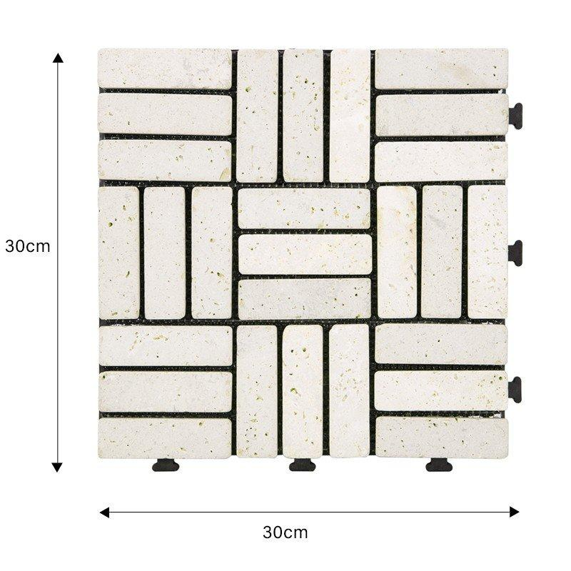 DIY yellow stone interlocking floor for residence TTS27P-YL-1