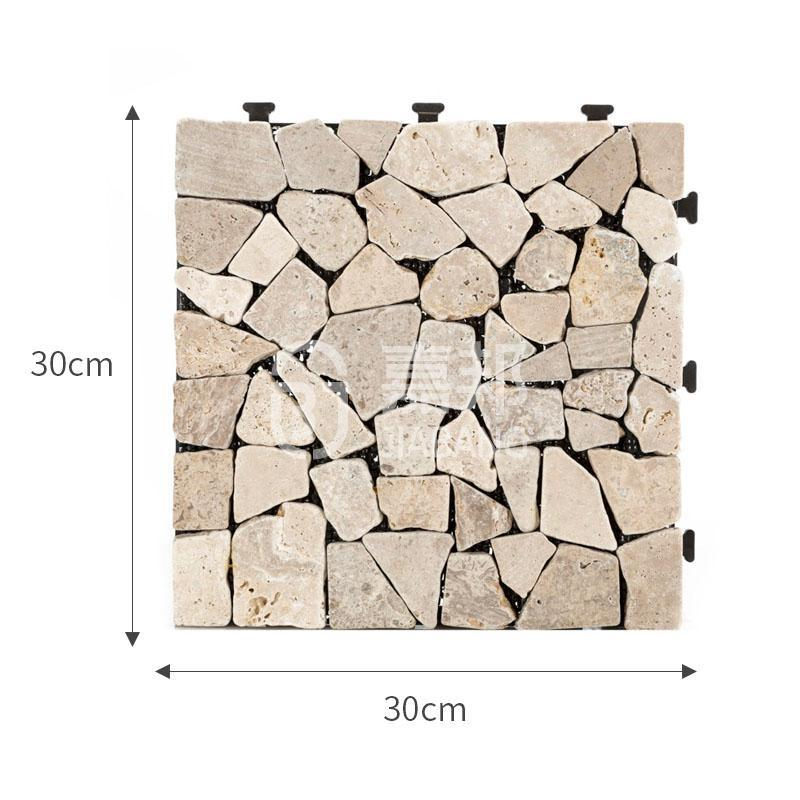 interlocking travertine wall tiles diy high-quality for garden decoration-1