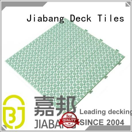 plastic floor tiles outdoor white pink slip Warranty JIABANG