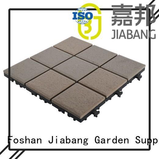 deck outside JIABANG Brand porcelain patio tiles