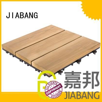JIABANG interlocking wooden decking squares chic design wooden floor