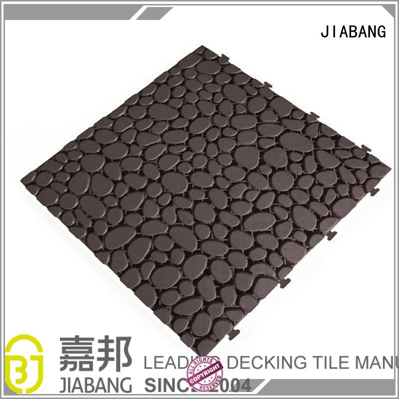 wood plastic composite tiles anti-sliding for wholesale JIABANG