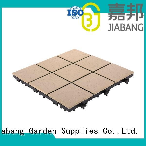 JIABANG Brand interlocking garden ceramic interlocking tiles office