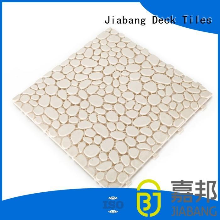 grey slip plastic floor tiles outdoor JIABANG Brand