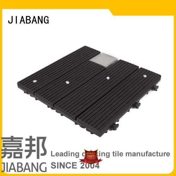 JIABANG durable snap together deck tiles wpc ground