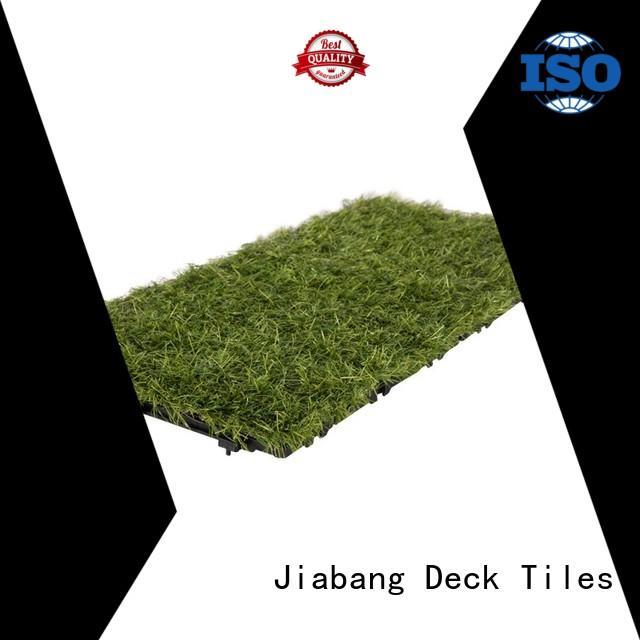JIABANG top-selling artificial grass tiles at discount garden decoration