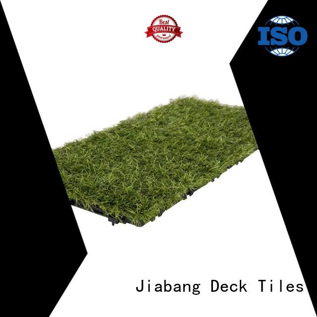 JIABANG top-selling artificial grass tiles at discount garden decoration