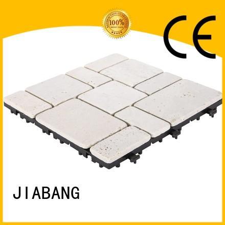 diy travertine floor tile at discount for playground JIABANG