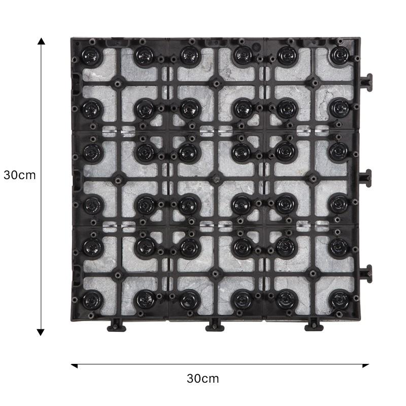 JIABANG interlocking gray travertine tile high-quality for garden decoration-2
