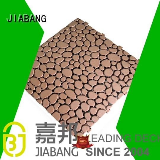 coral Custom green non slip bathroom tiles plastic JIABANG