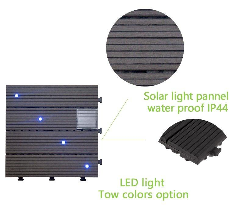 solar light deck tile