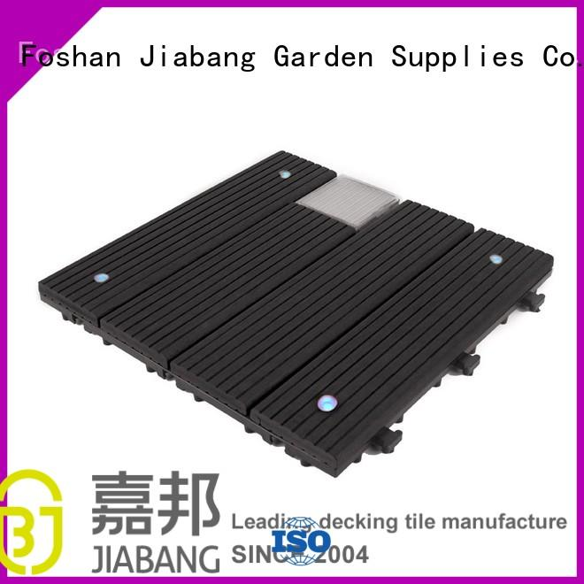 JIABANG snap together deck tiles wpc ground