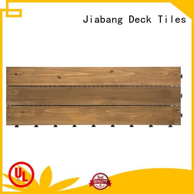 JIABANG natural hardwood deck tiles wooddeck for balcony