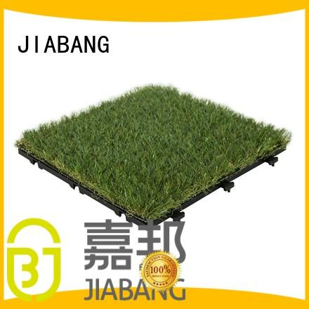 JIABANG wholesale grass floor tiles artificial grass garden decoration