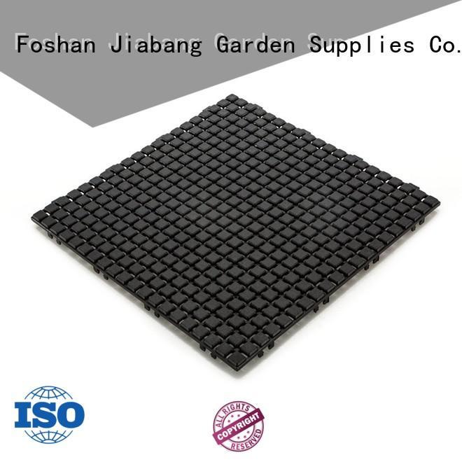 decorative plastic floor tiles non-slip for customization