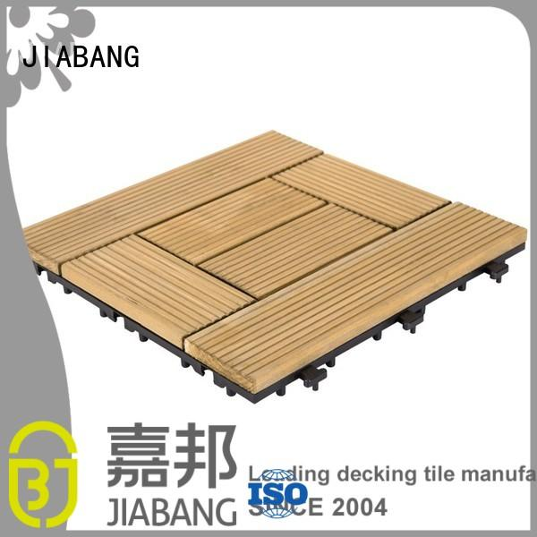 natural deck solid floors square wooden decking tiles JIABANG Brand