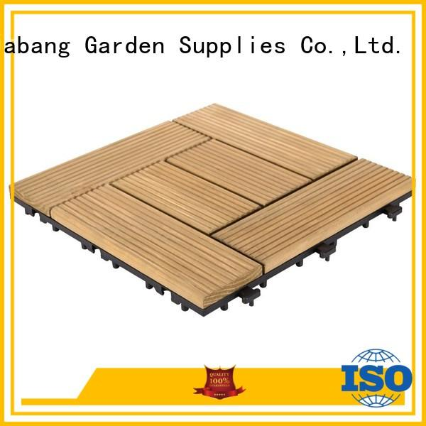 adjustable wooden decking squares outdoor flooring wood for garden
