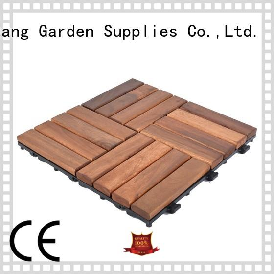 anti-slip acacia tile free delivery at discount