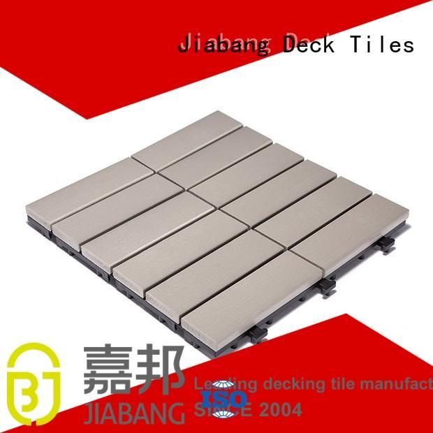 lightweight tile path JIABANG Brand pvc deck tiles manufacture