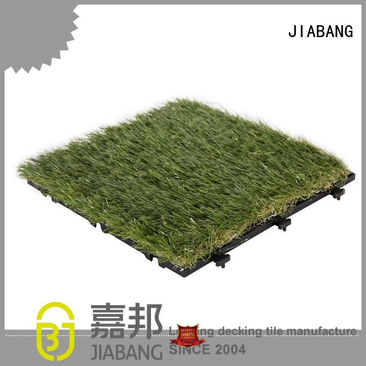 permeable grass backing OEM fake grass squares JIABANG