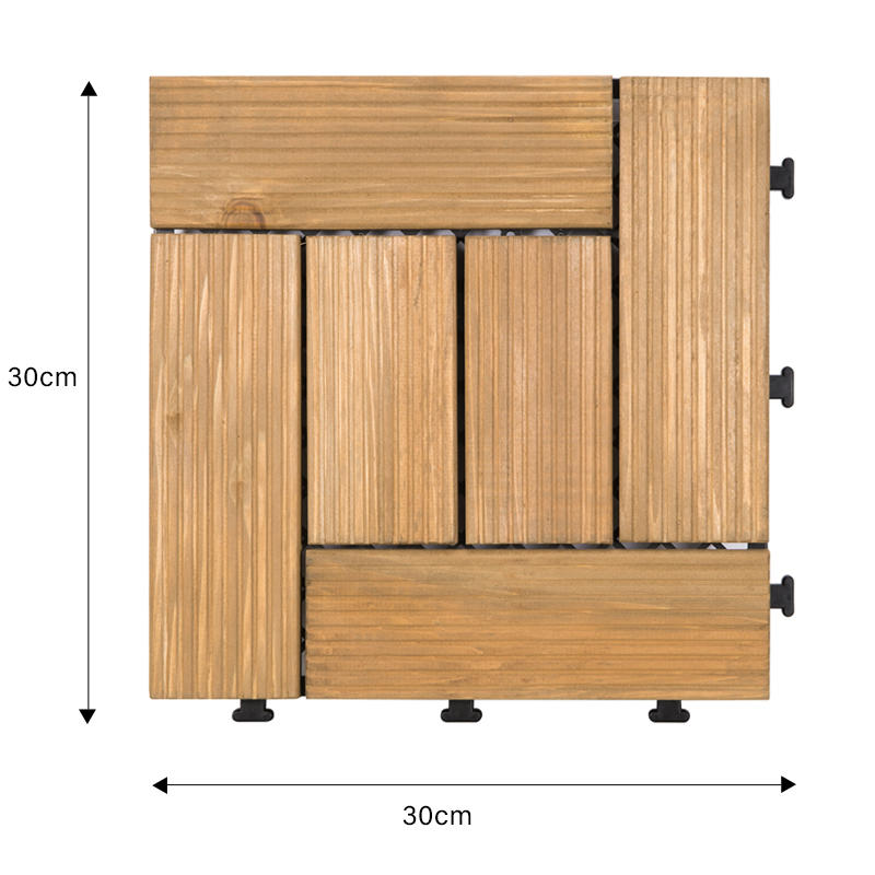 JIABANG natural wooden decking squares wood deck wooden floor-1