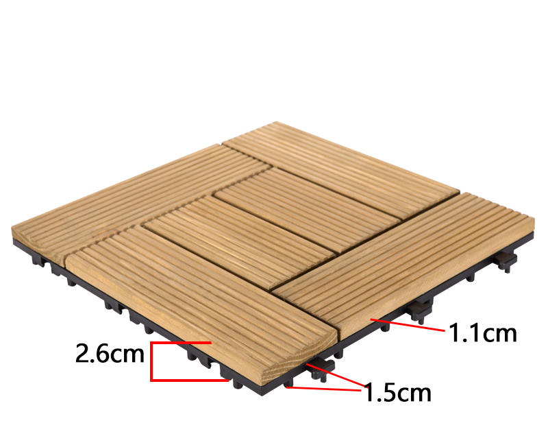 JIABANG natural wooden decking squares wood deck wooden floor-3