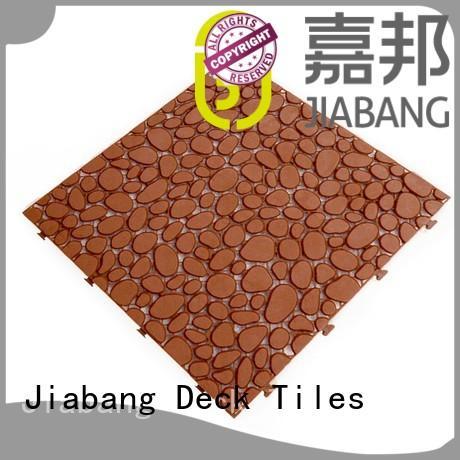 anti-sliding plastic floor tiles for wholesale JIABANG