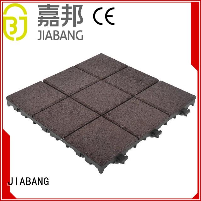 interlocking rubber gym mats composite for wholesale JIABANG