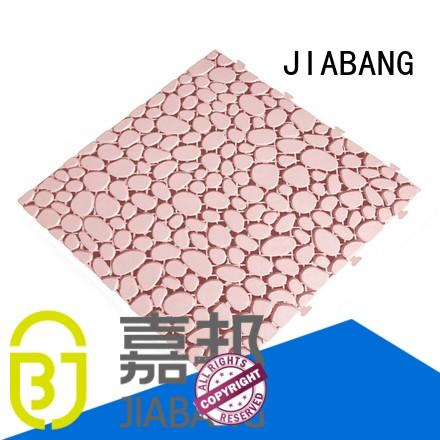 plastic interlocking outdoor tiles non-slip for customization